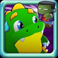 Dragon battle: Funny zombie Killer adventure