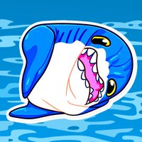 Hungry Shark Stickers