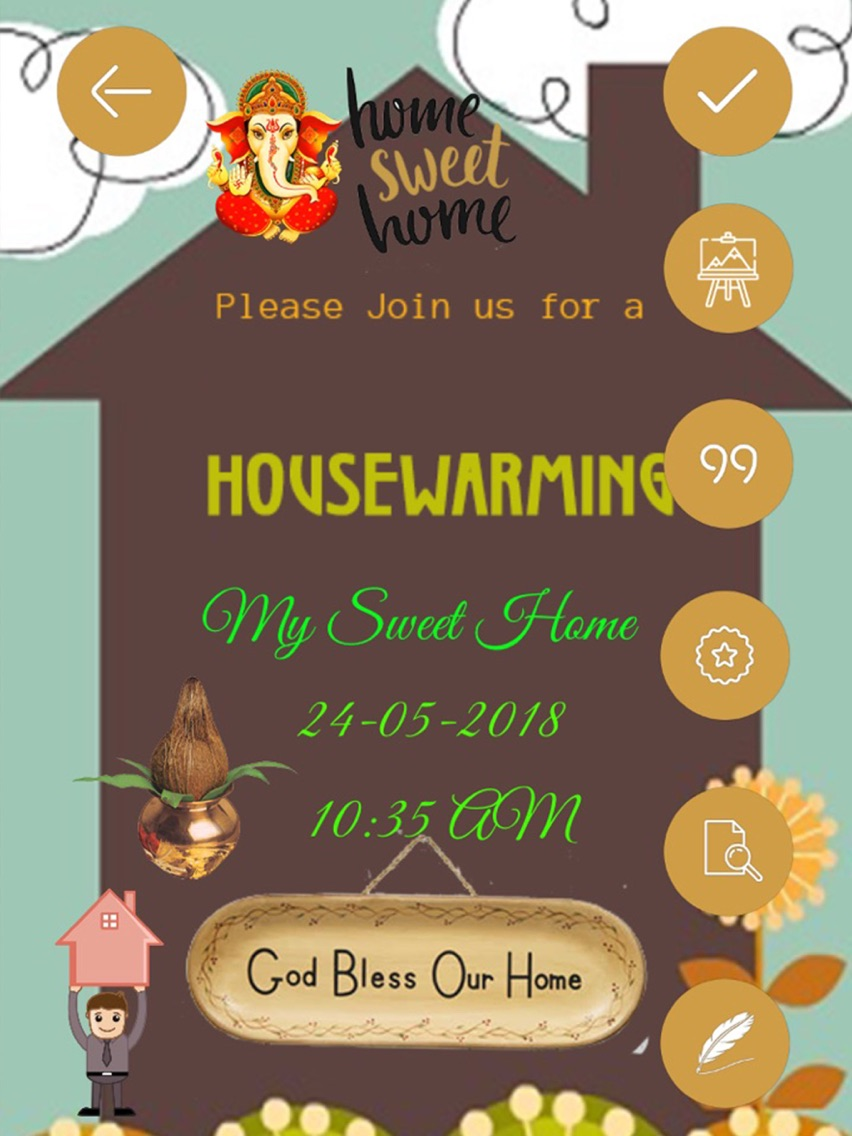 housewarming invitation cards app for iphone