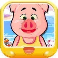 三只小猪的钓鱼之旅 早教 儿童游戏