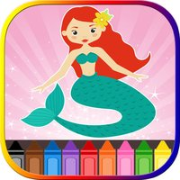 Mermaid Princess Coloring Book For Kids Free!
