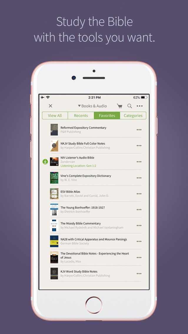 Bible App by Olive Tree App for iPhone - Free Download Bible