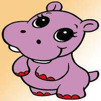Kids Coloring Book - Cute Cartoon Naya