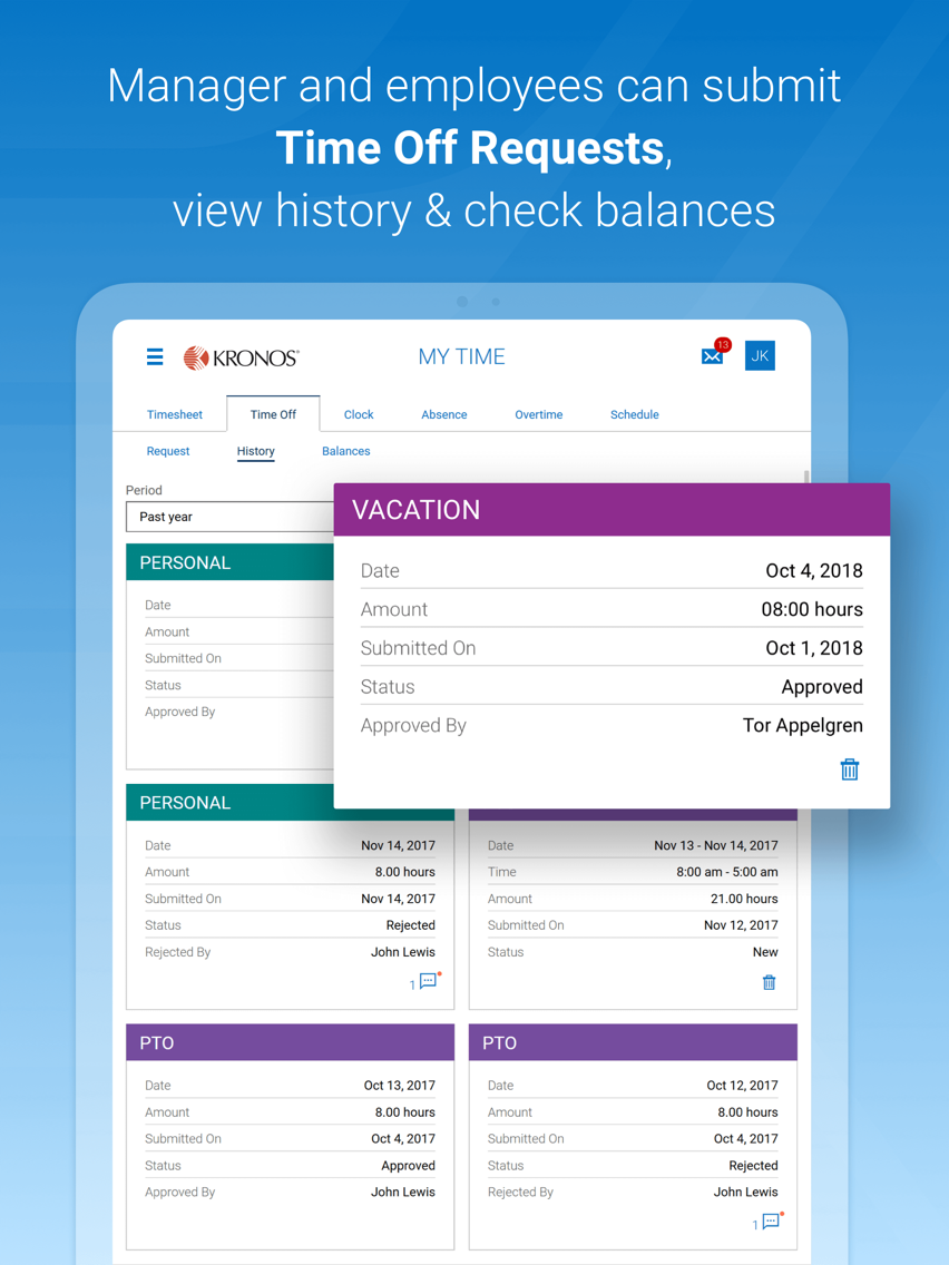 Kronos Workforce Ready Mobile App for iPhone - Free Download Kronos