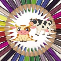 kids Farm Animals - Coloring A Farm Animal Learning Book for Kids