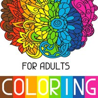 Adults Coloring Book Color Therapy for Anti-Stress