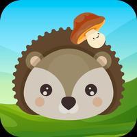 Mushrooms and hedgehog