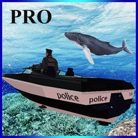 Fly Submarine Car: Police Boat Pro