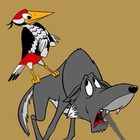 Дятел и волк - интерактивная сказка книга на ночь для всех от Михаила Булатова.