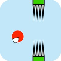Flappy Red Ball - Bouncing Through Spikes