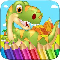 Dinosaur Colorbook Drawing to Paint Scratch Coloring Game for Kids