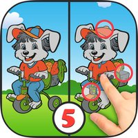 Spot the differences puzzle game 2 – Coloring book