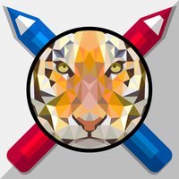 Zendoz ArtBookz - 03 - Polygon Animals - Coloring Book