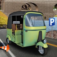 Tuk Tuk Rikshaw Transporter 3d Parking
