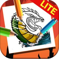 Coloring Books on Dragons & Beasts Cartoon Lite