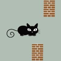 Flappy Cat Avoids Pillars