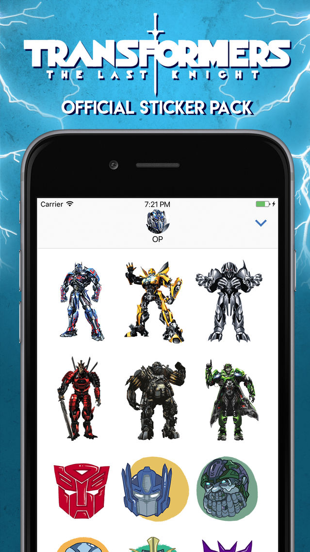 Official Transformers Stickers App for iPhone - Free Download