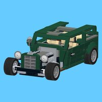 Hot Rod for LEGO 10242 Set - Building Instructions
