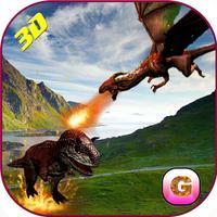 Flying Dragon Warrior Attack – Monster vs Dinosaur Fighting Simulator