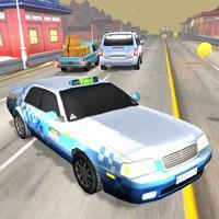 Taxi Drift Race Highway Traffic Crossing
