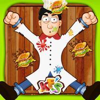 Chef Burger Toss Mania – Aim at dart wheel & hit the target