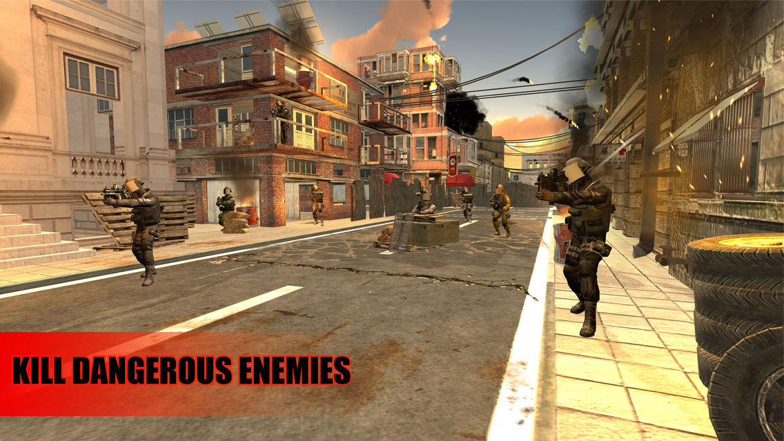 Commander Shooter Elite Force War Game App for iPhone - Free