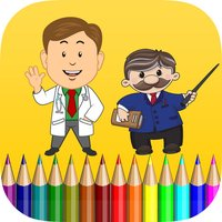 occupations coloring book for kids