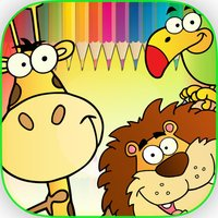 Animals Coloring Book - Finger Paint Book