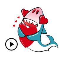 Animated Cute Shark Sharkmoji