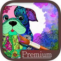Mandalas dog Coloring for adults - Premium