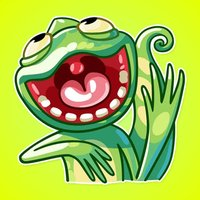 Funny Chameleon from Jungle Stickers