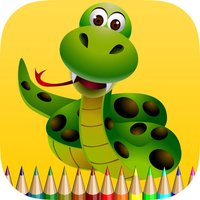 Snake Coloring Book for Children: Learn to color a cobra, boa, anaconda and more