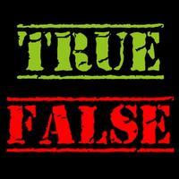 true or false (no internet needed)