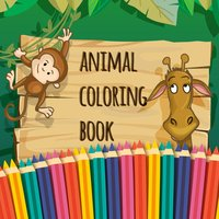 Animal Coloring Book Page Game
