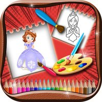 Princess Coloring Book For Kids & Adults