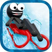 Stickman Luge - Winter Games!
