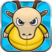 Stupid Ninja Farm Goat jumping - Funny hay pile jumping game for kids