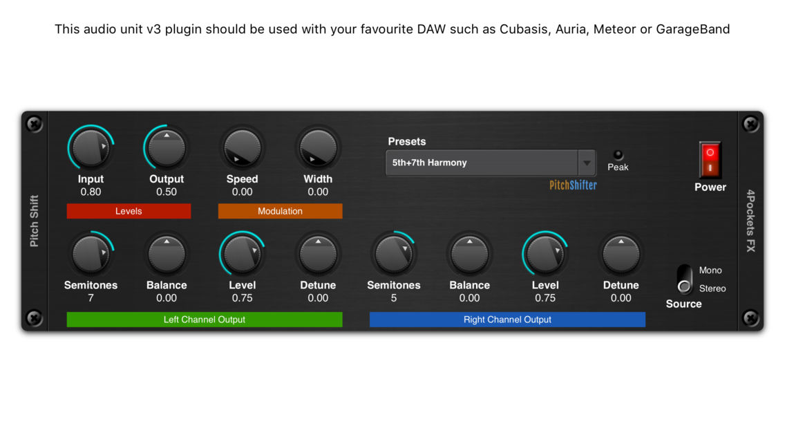 Pitch Shifter AUv3 Plugin App for iPhone - Free Download