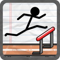Stick-Man Track and Field Gym-nastics Jump-er Course