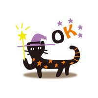 Scary Cat Halloween Stickers