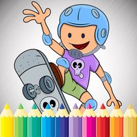 Sport Cartoon Coloring Book - Drawing for kids free games