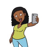 Monica Selfie Stickers - Black Girl Edition