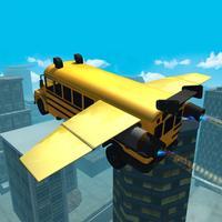 Flying Car Simulator 3D: Stunt Bus