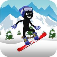 Stick-man Ski-ing fun Down-hill Sport Course Race