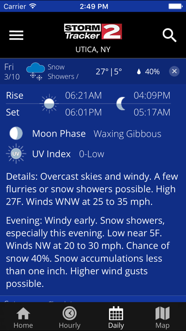 WXEDGE WEATHER APP - Providence besieged by Great Gale in