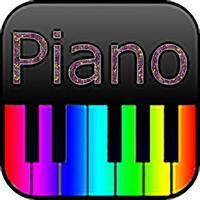 무지개 색 건반 피아노