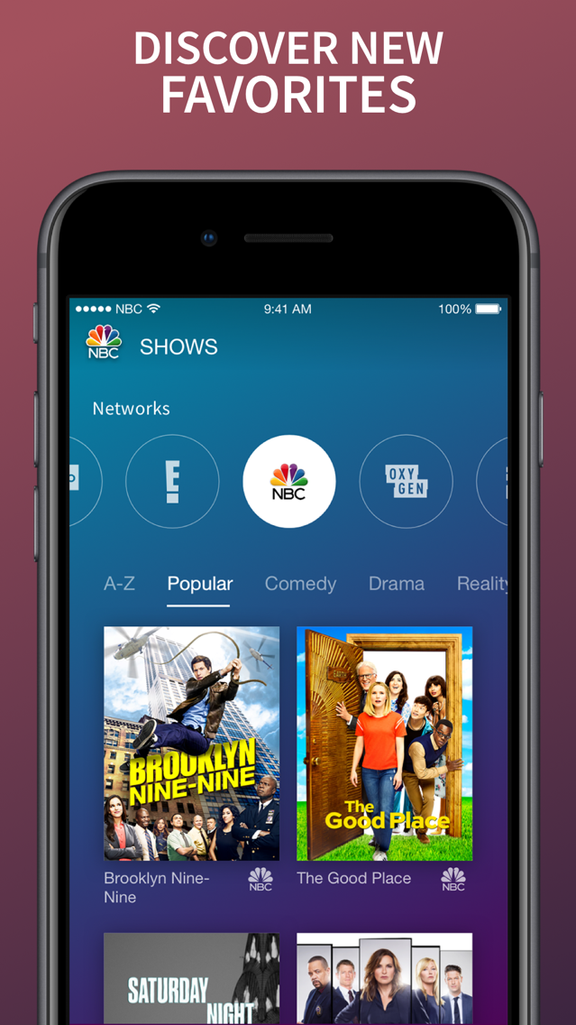 The NBC App – Stream TV Shows App for iPhone - Free Download