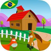 Adventure at the Farm for Kids (Brasilian Portuguese)