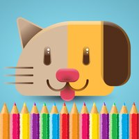 Cat Dog Coloring Book - Animal drawing & painting for good kid games