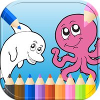 Toddler Games Dolphin Underwater Coloring Page